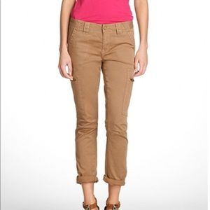 Tory Burch Chino Slim Cargo Pants in Soft Khaki